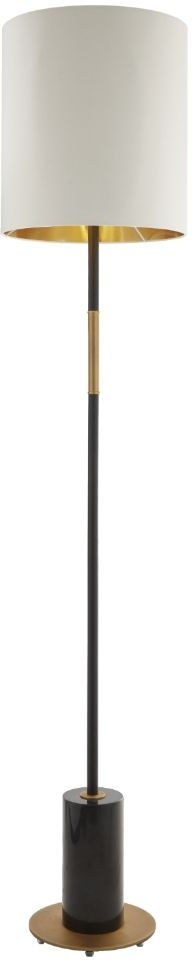 RV Astley Alix Floor Lamp - Antique Brass and Black Marble