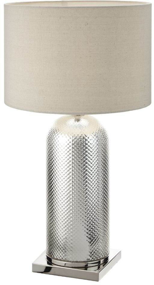 RV Astley Alliste Champagne Silver Glass and Nickel Table Lamp