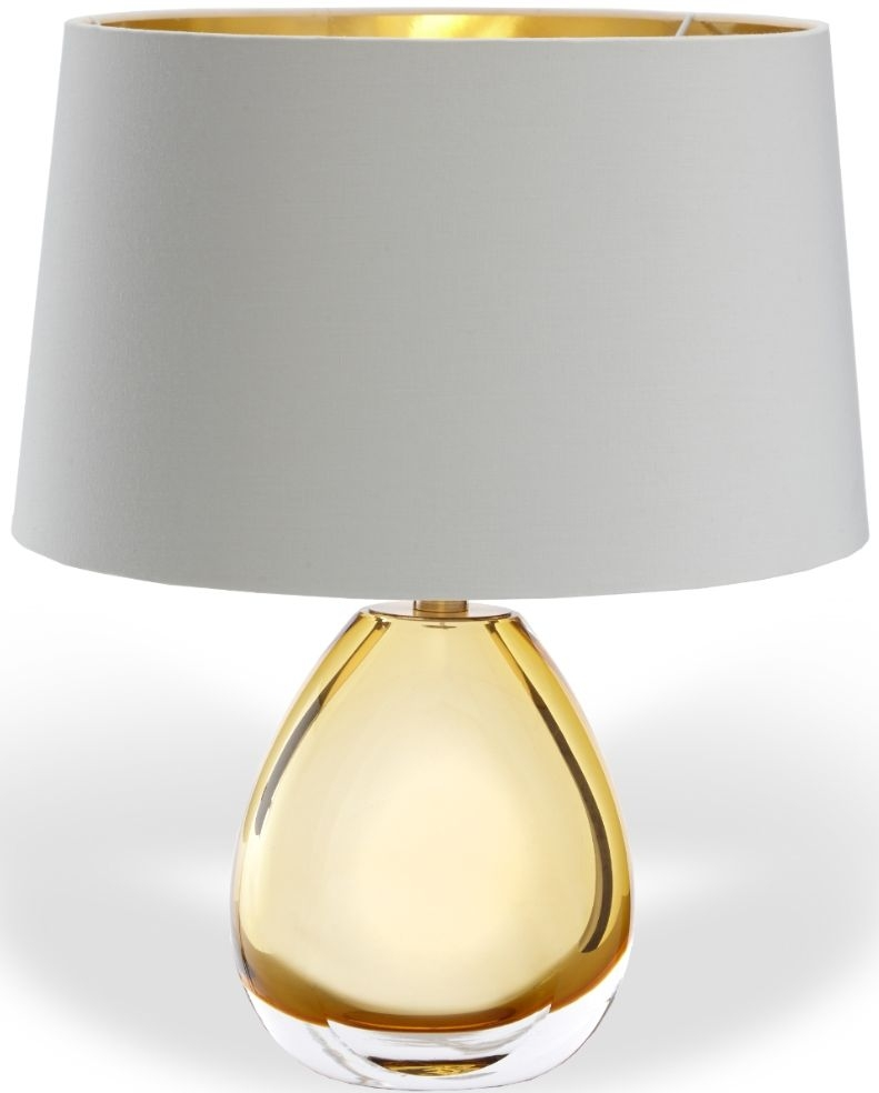 Buy Rv Astley Aloanie Amber Glass Table Lamp Online Cfs Uk