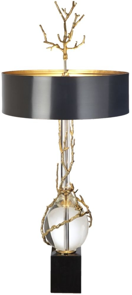 RV Astley Arden Clear Crystal and Marble Table Lamp