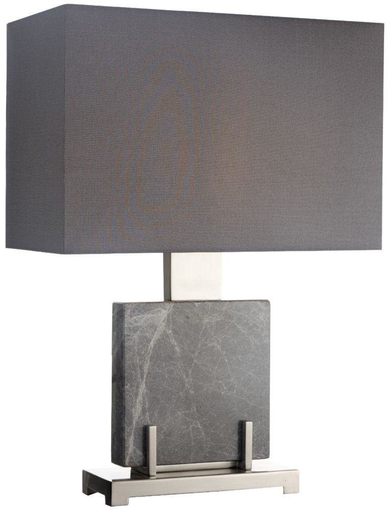 RV Astley Aria Table Lamp - Polished Grey and Brushed Nickel