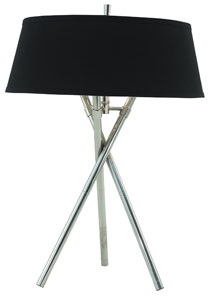 RV Astley Arlo Nickel Tripod Table Lamp