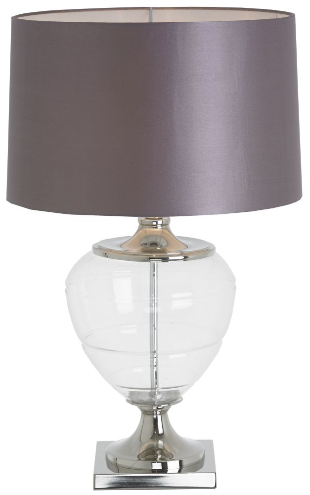 RV Astley Biana Urn Nickel Table Lamp