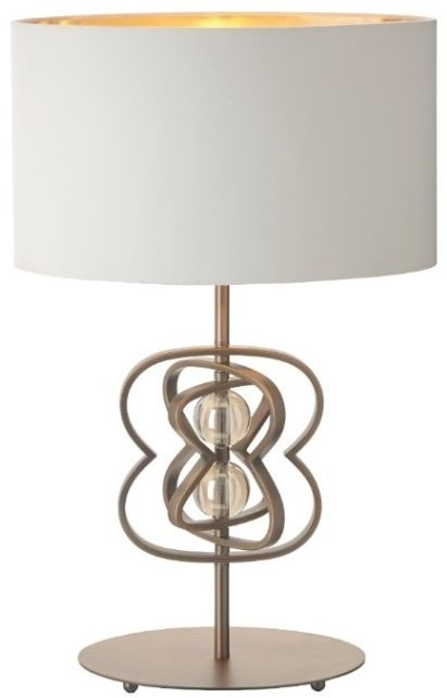 RV Astley CB Infinity Antique Brass Table Lamp