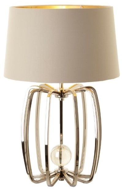 RV Astley Cage Small Table Lamp - Nickel and Crystal