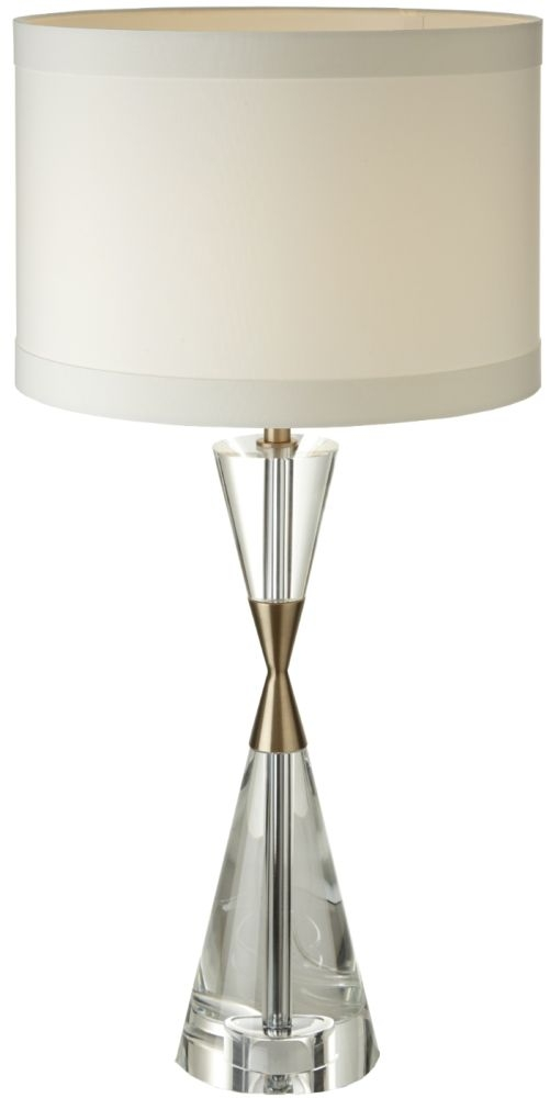 RV Astley Cale Crystal and Antique Brass Table Lamp
