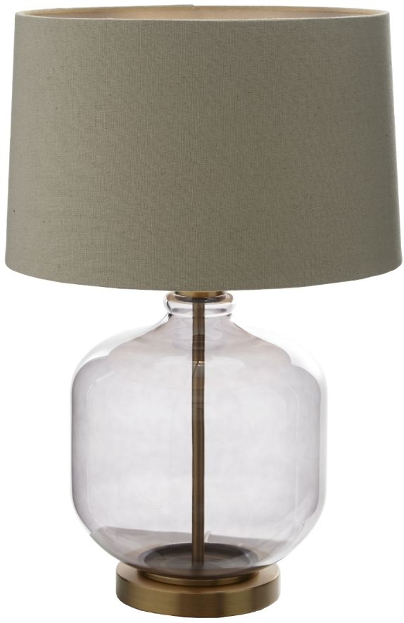 RV Astley Catena Table Lamp - Smoked Glass and Antique Brass