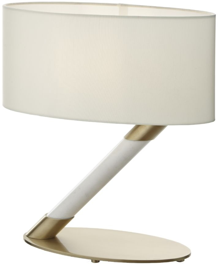 RV Astley Chloe Table Lamp - Antique Brass and White Marble