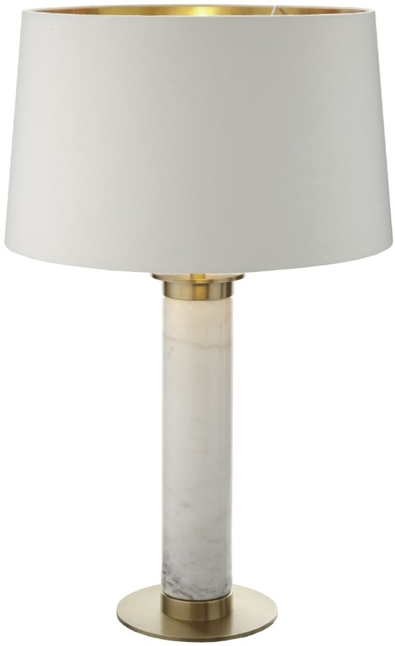 Buy Rv Astley Donal White Marble And Antique Brass Table Lamp Base