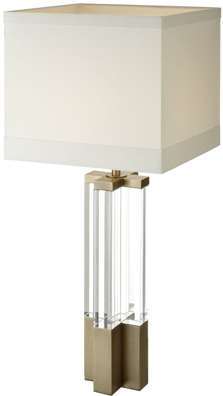RV Astley Eldmar Table Lamp - Crystal and Antique Brass