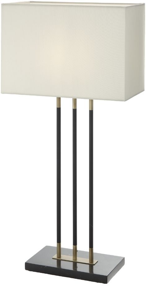 RV Astley Emma Table Lamp - Antique Brass and Black Marble