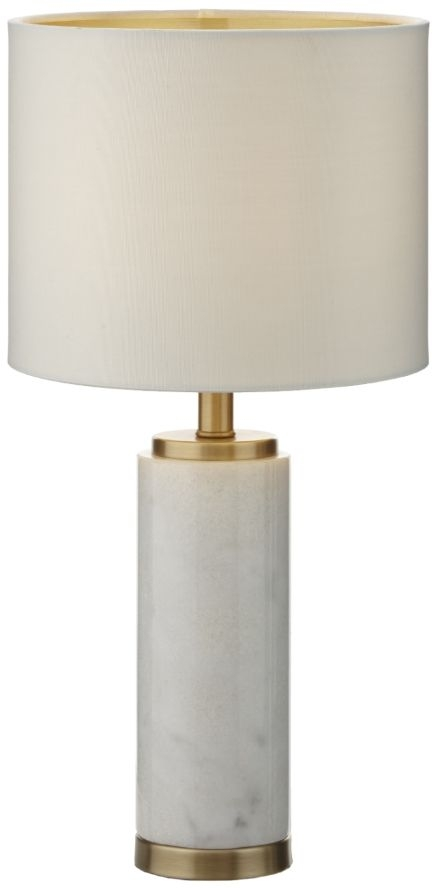 RV Astley Feargal Brass and White Marble Table Lamp