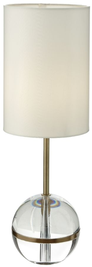 RV Astley Fionn Antique Brass and Crystal Table Lamp