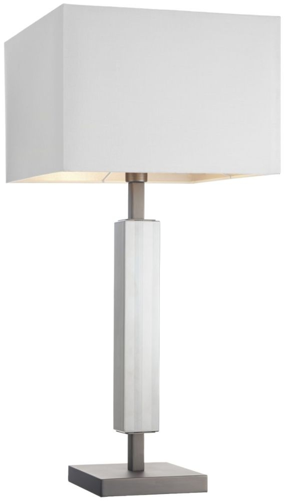 RV Astley Hades Table Lamp - Brushed Nickel and Clear Crystal