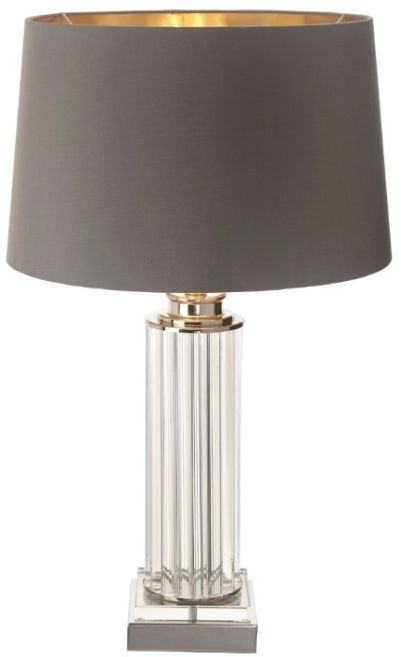 RV Astley Hanbury Table Lamp - Clear Glass and Nickel