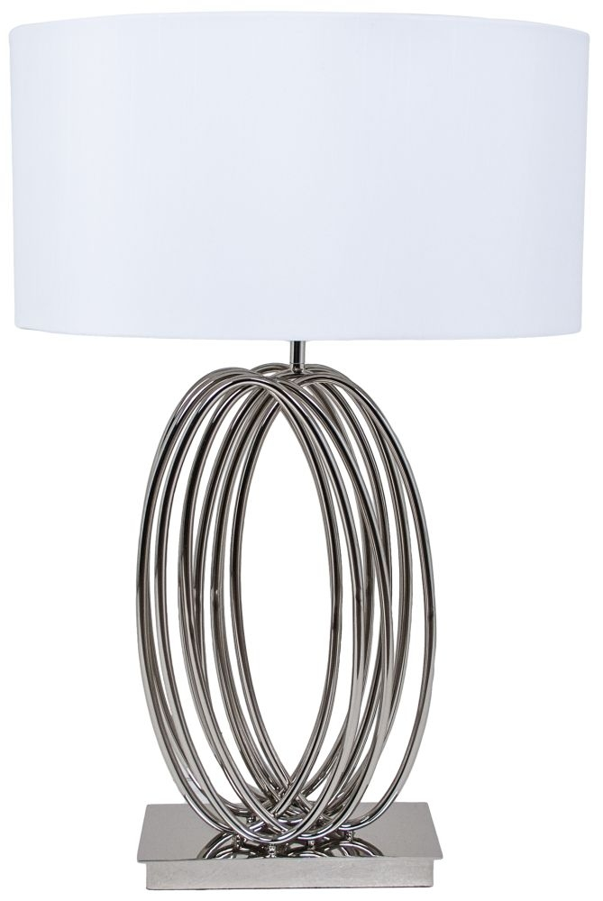 RV Astley Harmony Looped Table Lamp - Chrome and Nickel