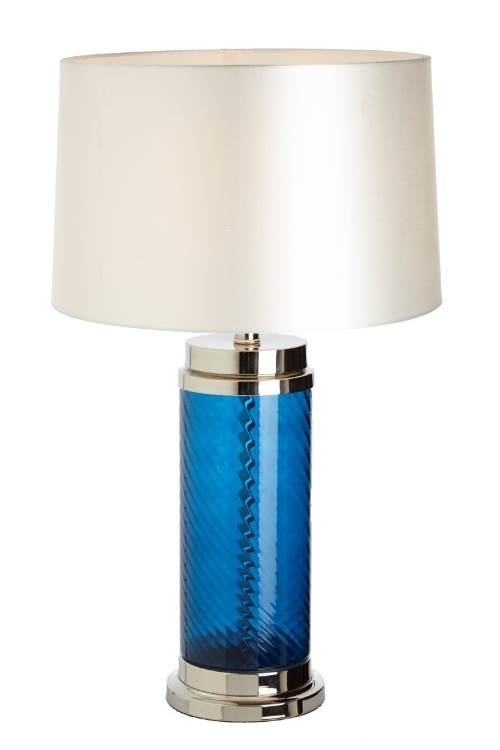RV Astley Haro Blue Glass Table Lamp