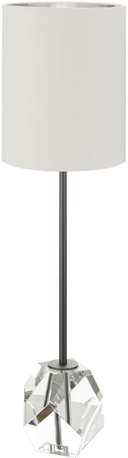 RV Astley Heloise Table Lamp - Black and Clear Crystal