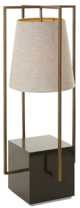 RV Astley Hurricane Large Floor Lamp - Antique Brass and Lacquered