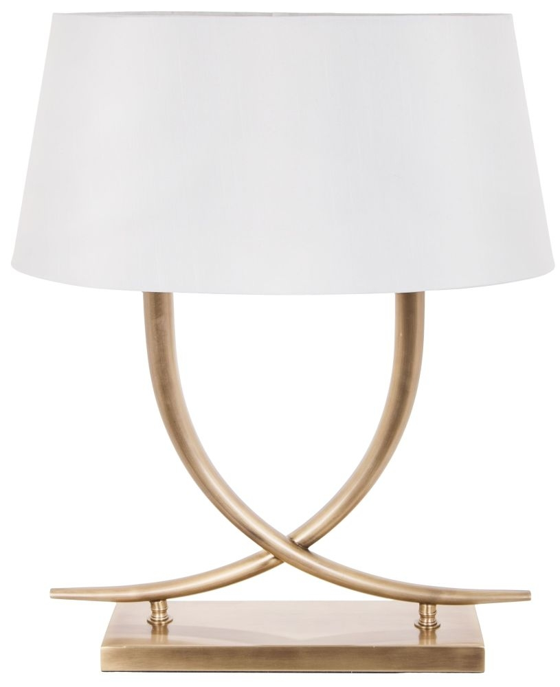 RV Astley Iva Antique Brass Table Lamp