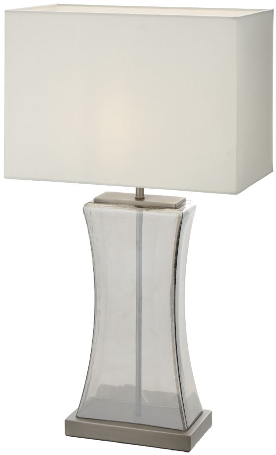 RV Astley Josefina Smoked Glass and Gunmetal Table Lamp