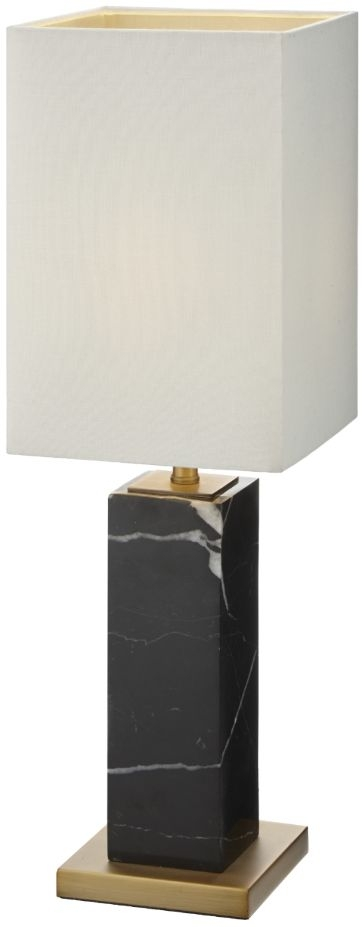 RV Astley Micaela Antique Brass and Black Marble Table Lamp