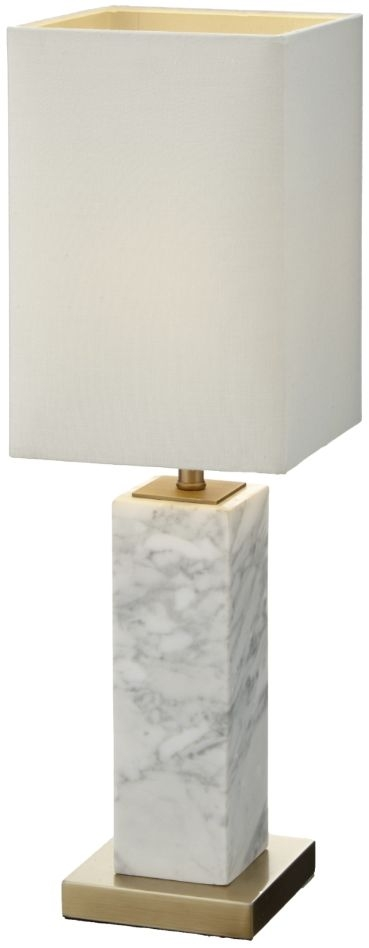 RV Astley Micaela Table Lamp - Antique Brass and White Marble
