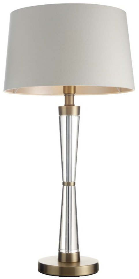 RV Astley Nelle Table Lamp - Crystal and Antique Brass