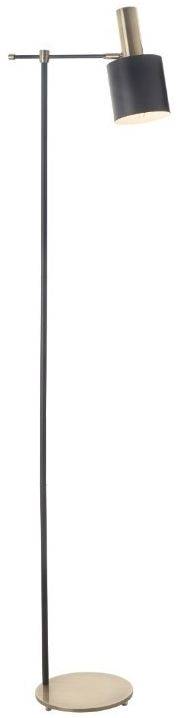 RV Astley Pelle Floor Lamp - Black and Antique Brass