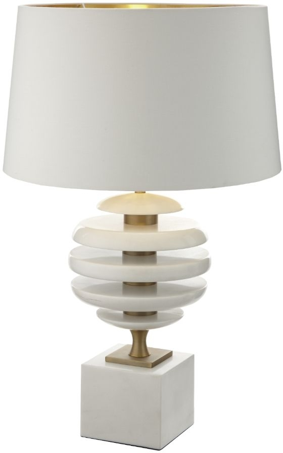 RV Astley Renata Table Lamp Base Only -White Marble and Brass