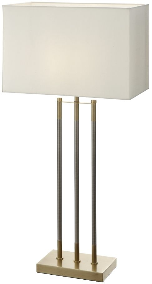 RV Astley Salome Antique Brass and Metal Table Lamp