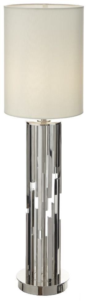 RV Astley Sorley Nickel Glass Table Lamp