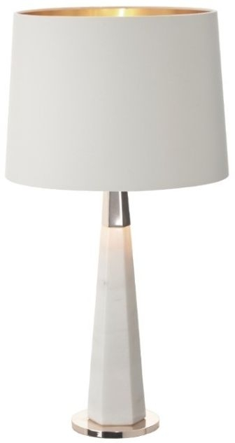RV Astley Vox Table Lamp - Antique Brass and White Marble