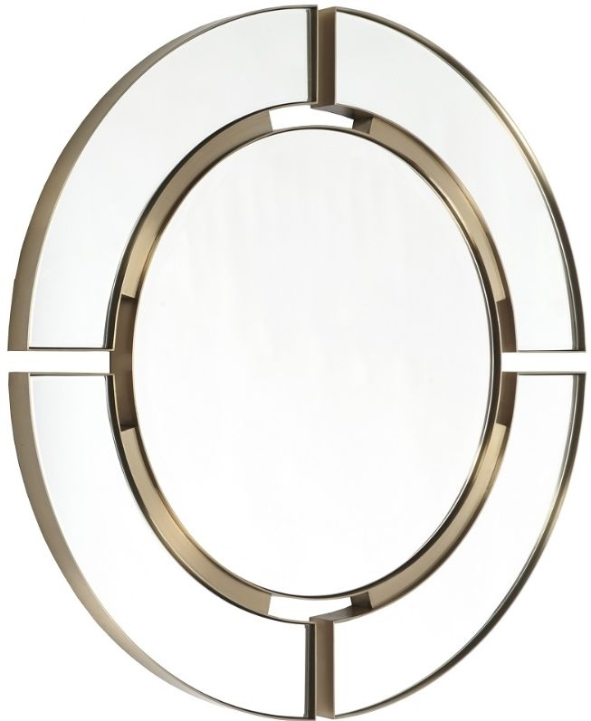 RV Astley Marcoles Brushed Brass Round Mirror - 91.4cm x 91.4cm