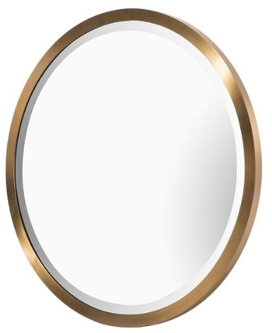 RV Astley Rabou Brass and Stainless Steel Round Wall Mirror - 65cm x 65cm
