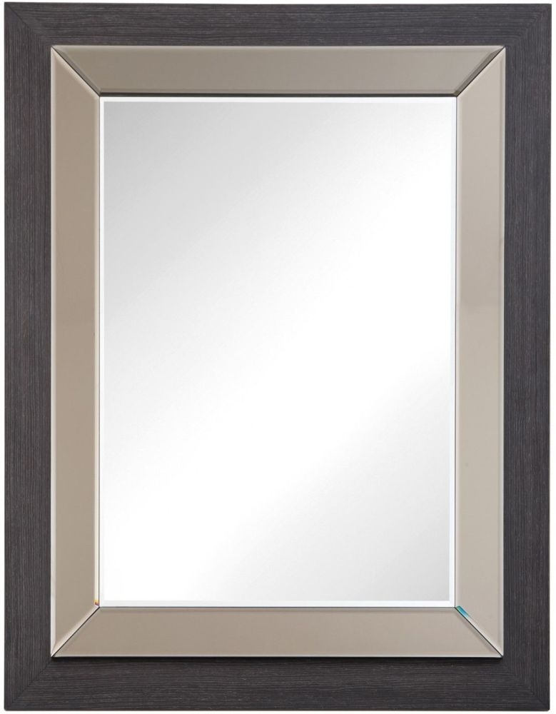 RV Astley Alatri Rectangular Mirror - Dark Grey and Bronze Trim 80cm x 100cm