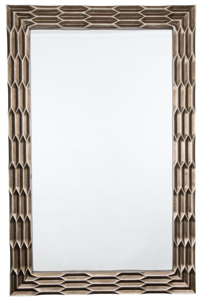 RV Astley Champagne Distressed Bronze Rectangular Mirror - 101cm x 156.5cm