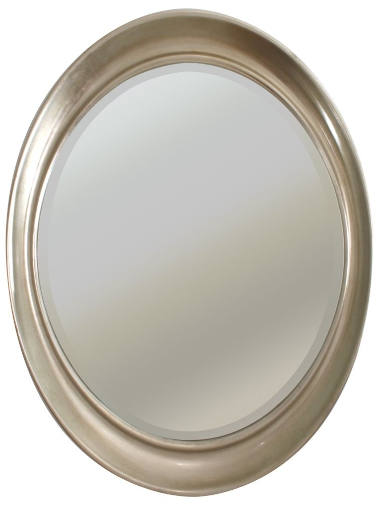RV Astley Antique Silver Oval Mirror - 76cm x 100cm