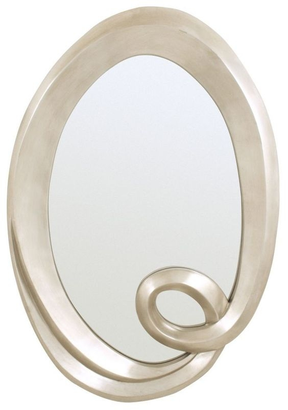 RV Astley Antique Silver Swirl Oval Mirror - 88cm x 125cm