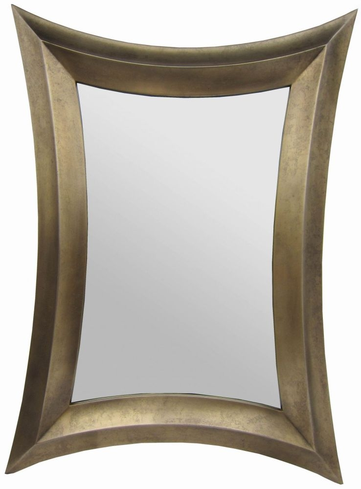 RV Astley Distressed Bronze Coco Rectangular Mirror - 100cm x 140cm