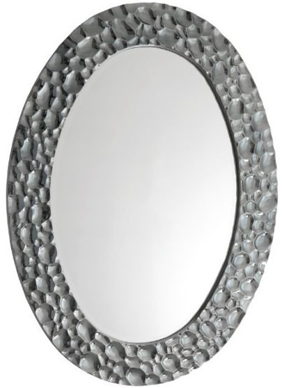 RV Astley Eira Chrome Oval Mirror - 86cm x 117cm