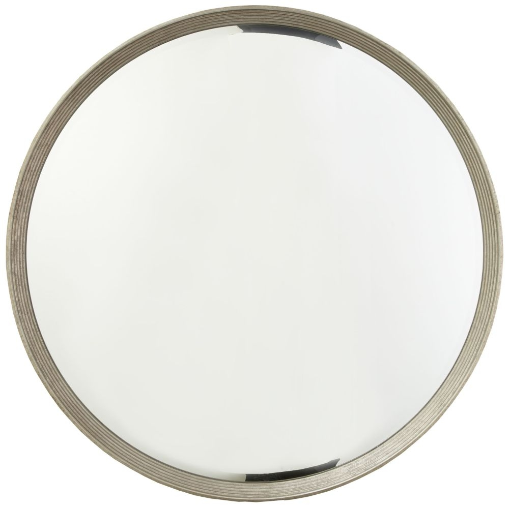 RV Astley Foyle Antique Silver Round Wall Mirror - 107cm x 107cm