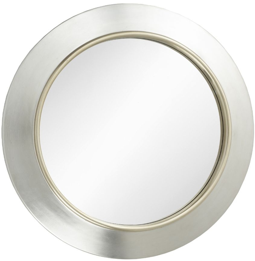 RV Astley Guido Round Mirror - Gold and Silver 91.4cm x 91.4cm