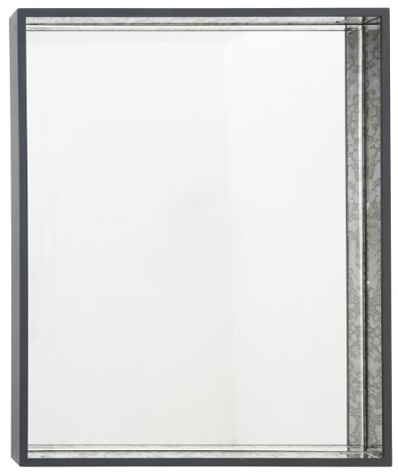 RV Astley Fenton Antique Black Rectangular Mirror - 90cm x 110cm