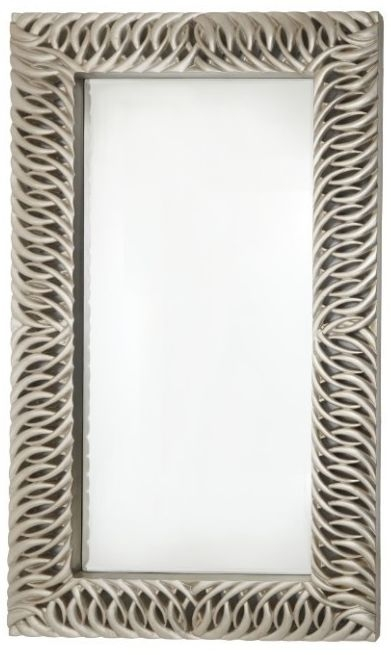 RV Astley Louen Silver Leaf Rectangular Mirror