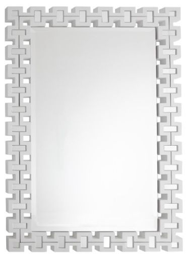 RV Astley Malba White Rectangular Mirror