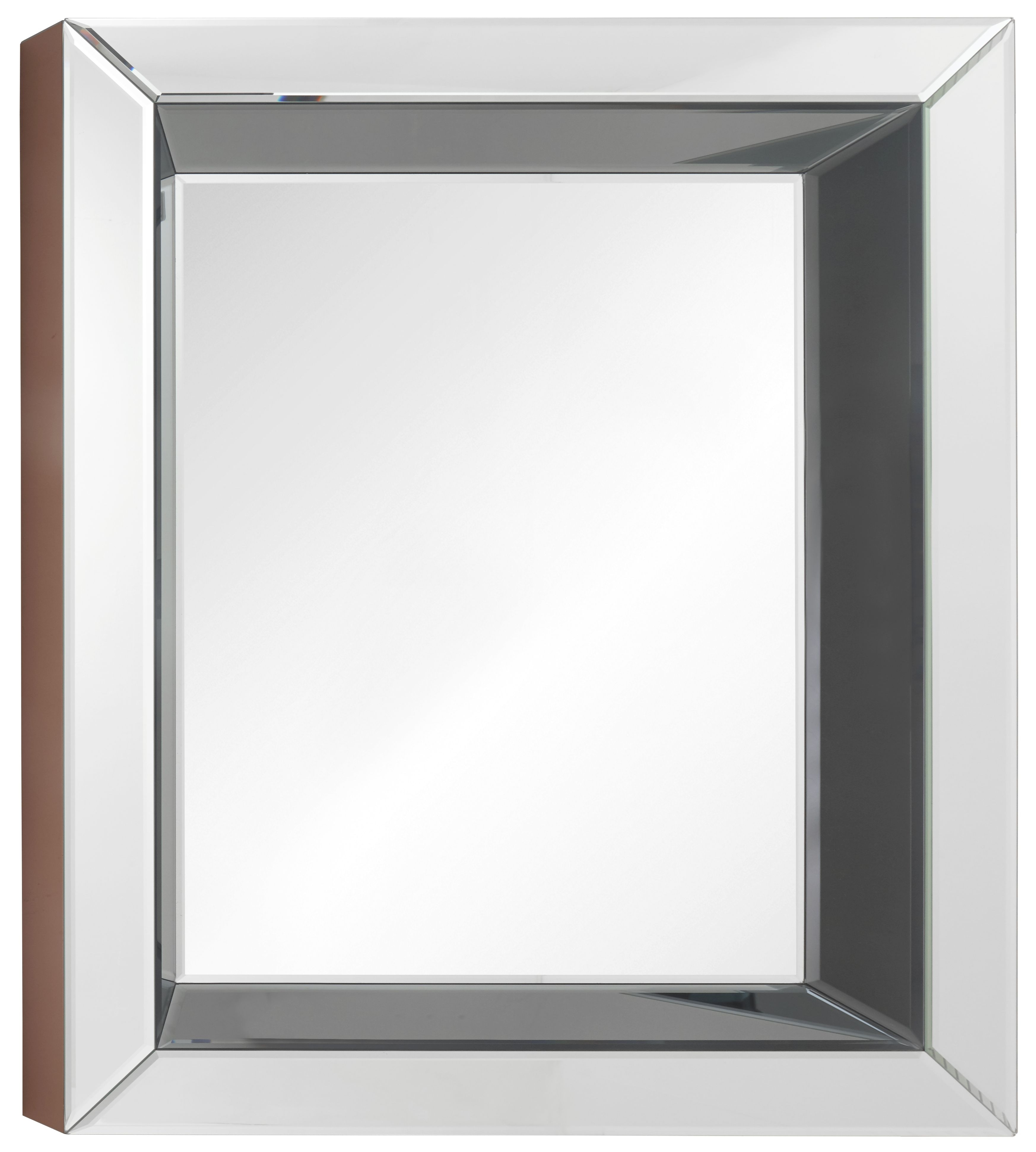 RV Astley Murano Rectangular Mirror - Grey and High Gloss Cooper 80cm x 100cm