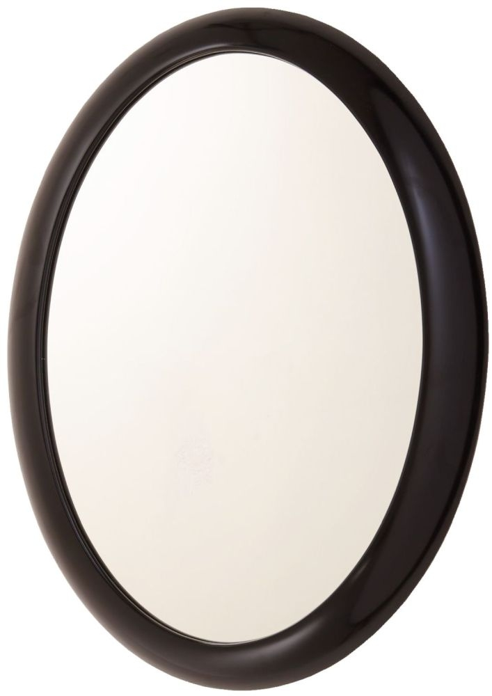 RV Astley Quin Black Oval Mirror - 55cm x 80cm