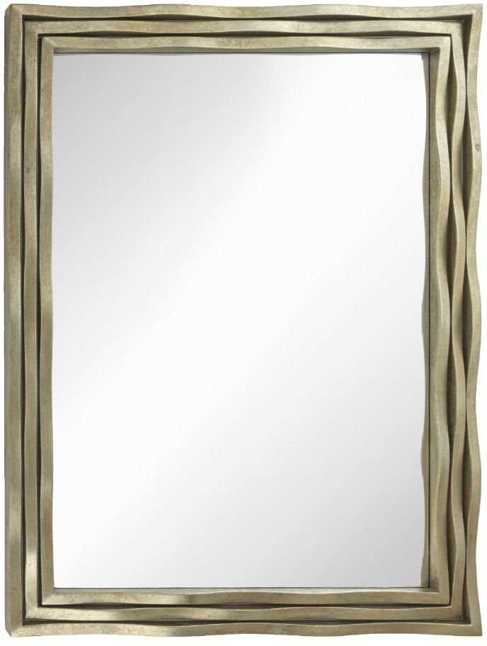 RV Astley Simona Distressed Gold Leaf Rectangular Mirror - 91.4cm x 121.9cm