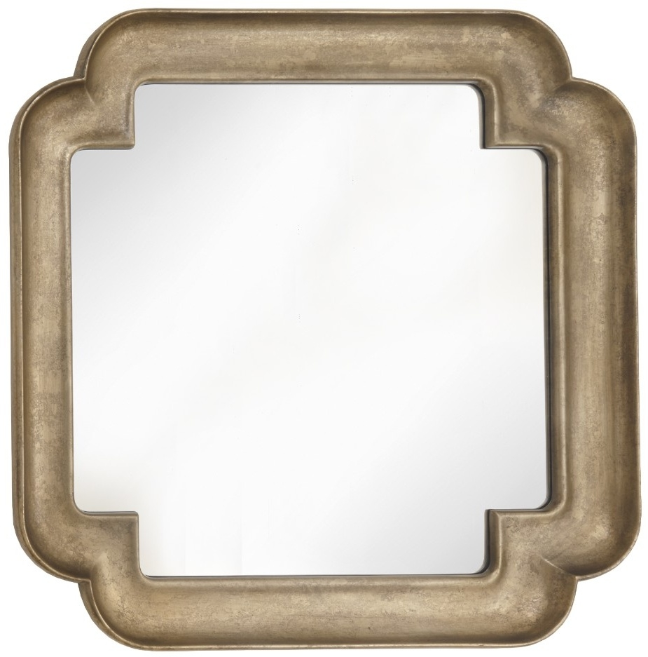 RV Astley Synne Gold Leaf Square Wall Mirror - 121.9cm x 121.9cm